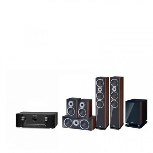 Receiver Marantz SR5011 + Boxe Heco Music Style 900 + Subwoofer Heco Music Style Sub 25A + Boxe Heco Music Style 200 + Boxe centru Music Style Center 2