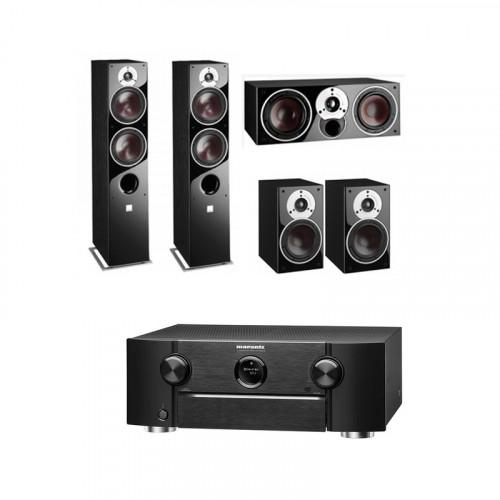 Receiver Marantz SR6012. 9.2 Canale. 185 W. Full 4K Ultra HD. Negru + Boxe Dali Zensor 7 + Boxe Dali Zensor 1 + Boxe Dali Zensor Vokal