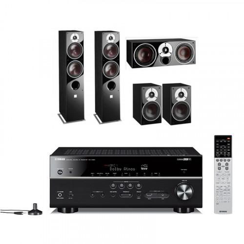 Boxe Dali Zensor 7 + Boxe Dali Zensor 1 + Boxe Dali Zensor Vokal + Receiver AV 5.1 Yamaha RX-V683