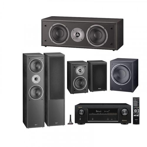 Boxe Magnat Supreme 802+102+Center 252+Sub 202A + Receiver AV Denon AVR-X1400H