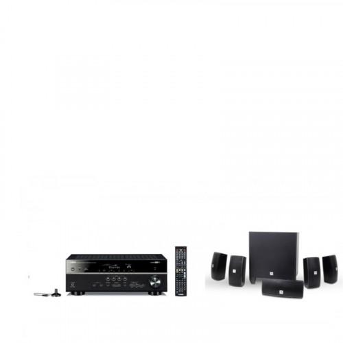 Receiver Yamaha RX-V481 + SISTEM 5.1 JBL HOME CINEMA 610