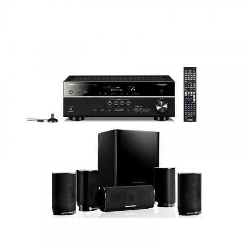 Pachet Home Cinema Yamaha Rx-V375+Harman Kardon Hkts 5